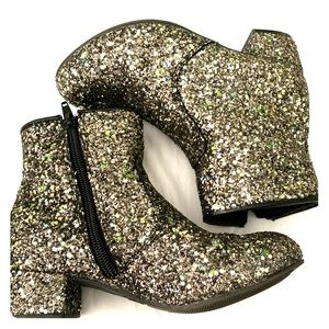 Harper Canyon girls sparkly glitter booties size 1